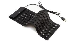 シリコンキーボード USB有線 折り畳み式