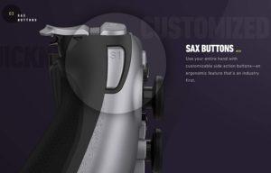 「SAXボタン」と「タッチバー」でさらに自由な操作ができる