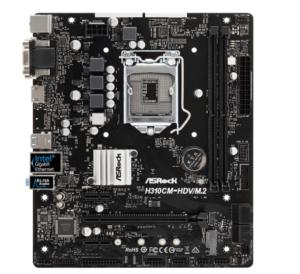 ASRock Intel H310チップ搭載 Micro ATX マザーボード H310CMHDVM.2